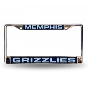 GRIZZLIES BLUE LASER CHROME TENNESSEE LICENSE PLATE FRAME