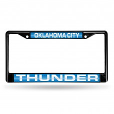 OKLAHOMA CITY THUNDER BLACK LASER CHROME FRAME