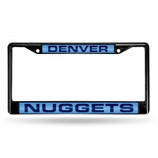 DENVER NUGGETS BLACK LASER CHROME COLORADO LICENSE PLATE FRAME