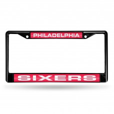 PHILADELPHIA 76ERS BLACK LASER CHROME FRAME