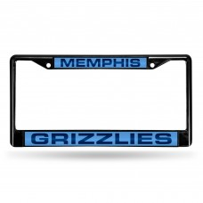 MEMPHIS GRIZZLIES BLACK LASER CHROME FRAME