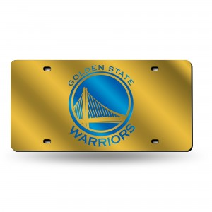 GOLDEN STATE WARRIORS LASER CALIFORNIA LICENSE PLATE