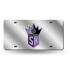 SACRAMENTO KINGS SILVER LASER CALIFORNIA LICENSE PLATE