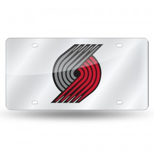 PORTLAND TRAILBLAZERS SILVER LASER OREGON LICENSE PLATE