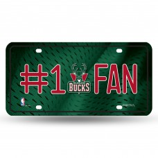 MILWAUKEE BUCKS #1 FAN METAL TAG