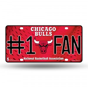 CHICAGO BULLS #1 FAN METAL NUMBER PLATE