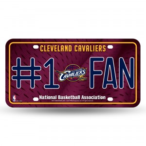CLEVELAND CAVS #1 FAN METAL NUMBER PLATE