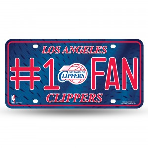 LOS ANGELES CLIPPERS #1 FAN METAL NUMBER PLATE