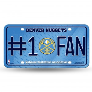 NUGGETS NEW LOGO #1 FAN METAL NUMBER PLATE