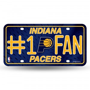 INDIANA PACERS #1 FAN METAL NUMBER PLATE