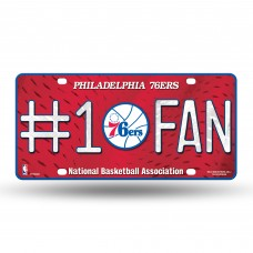 PHILADELPHIA 76'ERS #1 FAN METAL TAG