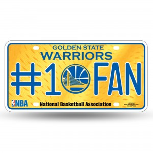 GOLDEN STATE WARRIORS #1 FAN METAL NUMBER PLATE