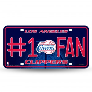 CLIPPERS BLING # 1 FAN METAL NUMBER PLATE