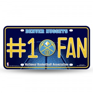 NUGGETS BLING # 1 FAN METAL NUMBER PLATE