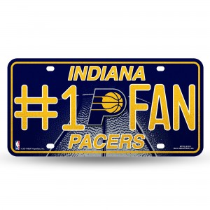 PACERS BLING # 1 FAN METAL NUMBER PLATE