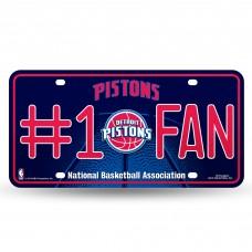PISTONS BLING # 1 FAN METAL TAG