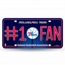 76ERS BLING # 1 FAN METAL TAG