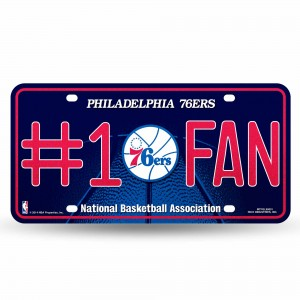 76ERS BLING # 1 FAN METAL NUMBER PLATE