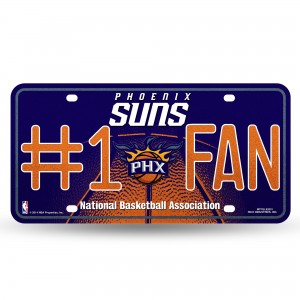 SUNS BLING # 1 FAN METAL NUMBER PLATE
