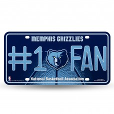 GRIZZLIES BLING # 1 FAN METAL TAG