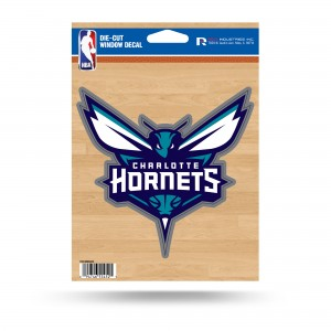 CHARLOTTE HORNETS MEDIUM DIE CUT STICKERS