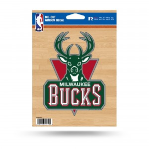MILWAUKEE BUCKS MEDIUM DIE CUT STICKERS
