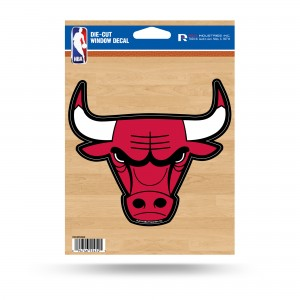 CHICAGO BULLS MEDIUM DIE CUT STICKERS
