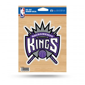 SACRAMENTO KINGS MEDIUM DIE CUT STICKERS