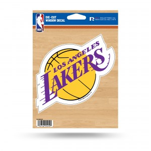 LOS ANGELES LAKERS MEDIUM DIE CUT STICKERS