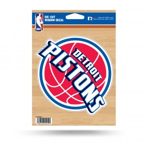 DETROIT PISTONS MEDIUM DIE CUT STICKERS