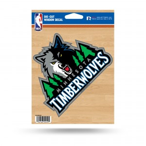 TIMBERWOLVES MEDIUM DIE CUT STICKERS