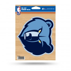 MEMPHIS GRIZZLIES MEDIUM DIE CUT STICKERS