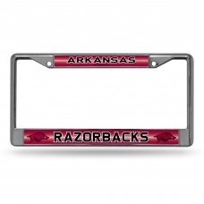 ARKANSAS BLING CHROME LICENSE PLATE FRAME