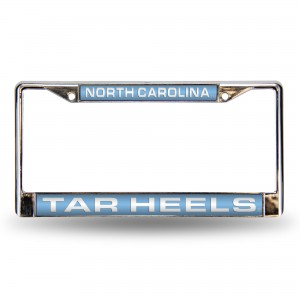 NORTH CAROLINA LIGHT BLUE LASER CHROME NC LICENSE PLATE FRAME