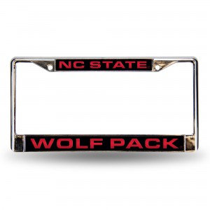 NORTH CAROLINA STATE RED LASER CHROME NC LICENSE PLATE FRAME