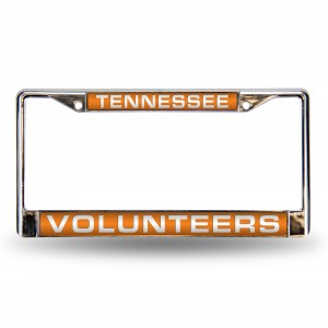 TENNESSEE ORANGE LASER CHROME TENNESSEE LICENSE PLATE FRAME