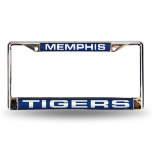 MEMPHIS BLUE LASER CHROME TENNESSEE LICENSE PLATE FRAME