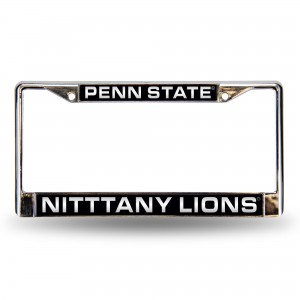 PENN ST BLUE LASER CHROME PENNSYLVANIA LICENSE PLATES FRAME