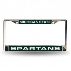 MICHIGAN STATE GREEN LSR CHROME FRM