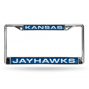 KANSAS BLUE LASER CHROME KANSAS LICENSE PLATES FRAME
