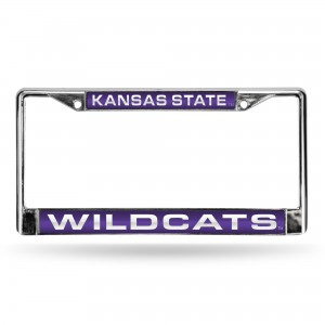 KANSAS STATE PURPLE LASER CHROME KANSAS LICENSE PLATES FRAME