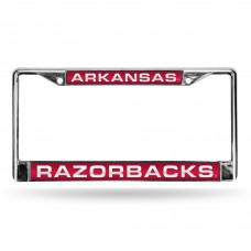 ARKANSAS RED LASER CHROME LICENSE PLATE FRAME