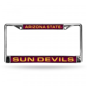 ARIZONA ST RED LASER CHROME LICENSE PLATE ARIZONA LICENSE PLATES FRAME