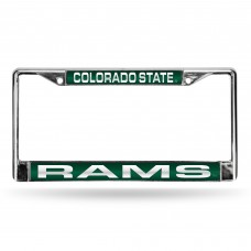 COLORADO STATE GREEN LASER CHROME LICENSE PLATE FRAME