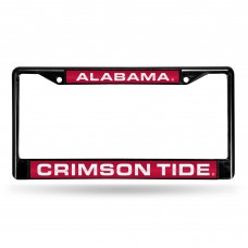 ALABAMA BLACK LASER CHROME LICENSE PLATE FRAME