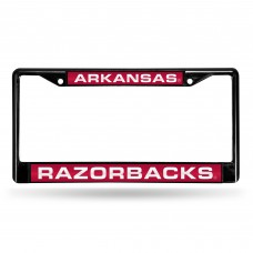 ARKANSAS BLACK LASER CHROME LICENSE PLATE FRAME