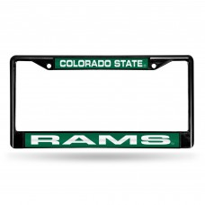 COLORADO STATE BLACK LASER CHROME LICENSE PLATE FRAME