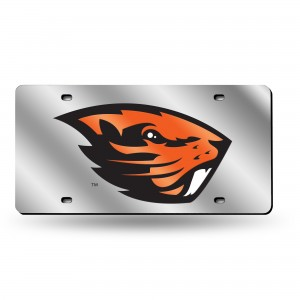 OREGON STATE SILVER LASER OREGON LICENSE PLATE
