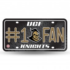CENTRAL FLORIDA #1 FAN METAL LICENSE PLATE
