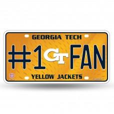 GEORGIA TECH #1 FAN METAL LICENSE PLATE